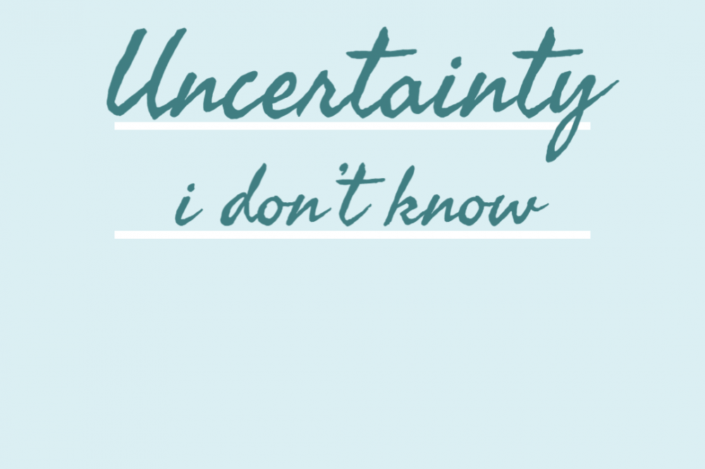 Uncertainty, I don't know